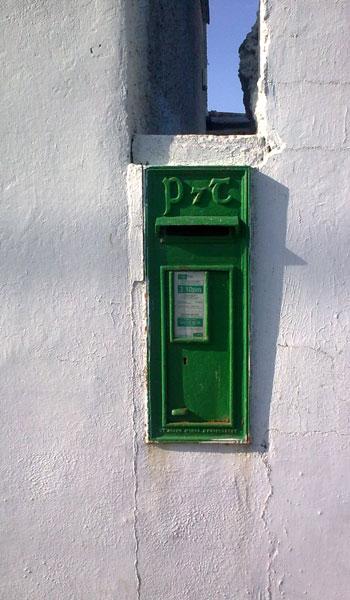 Sunday Blog Dublin Flea Market - image of postbox in wall