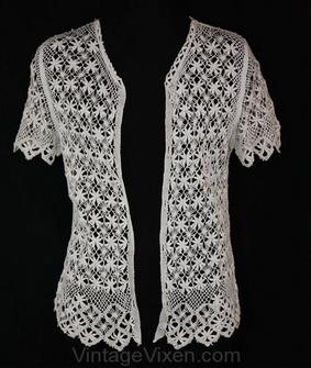 Handmade Irish Lace Cardigan