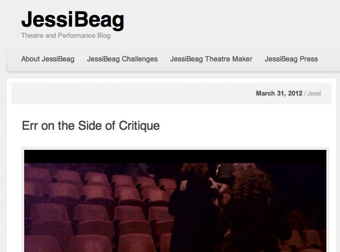 irish theatre blog Jessica Carri